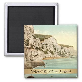 Weiße Klippen von Dover, Kent, England Quadratischer Magnet