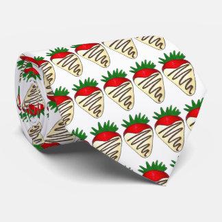 Weiße Krawatte des Schokoladen-Erdbeervalentines