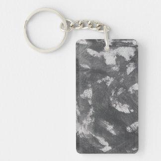 Weiße Kreide und schwarze Tinte Schlüsselanhänger