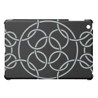 Weiße Kreise auf Schwarzem iPad Mini Hülle