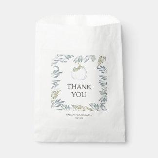 Weiße Kürbis-Süßigkeits-Bevorzugungs-Taschen Geschenktütchen