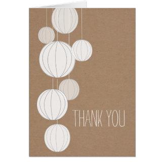 Weiße Laternen-Cardstock inspiriertes danken Ihnen Grußkarte