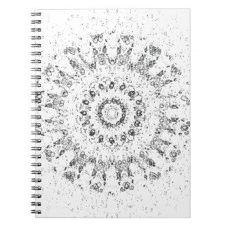 Weiße Licht-Notizbuch Notizblock