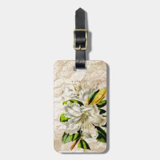 weiße Lilie des bohmeian französischen botanischen Kofferanhänger