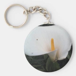 Weiße Lilie Schlüsselanhänger