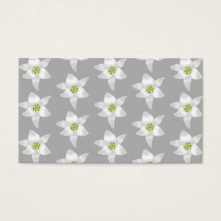 Weiße Lilien-Blumen auf grauem Hintergrund Visitenkarte