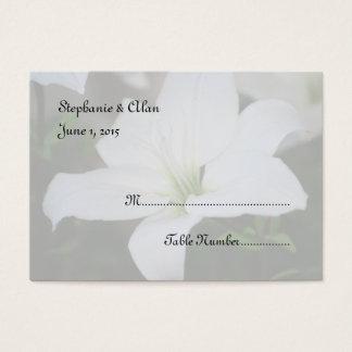 Weiße Lilien-Hochzeits-Platzkarten Visitenkarte