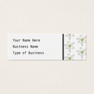 Weiße Lilien-Muster Mini Visitenkarte