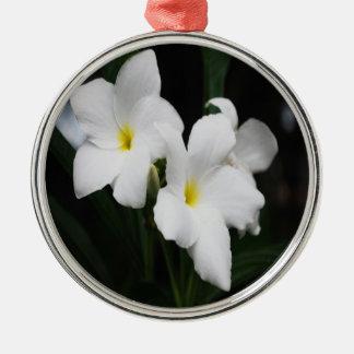 Weiße Lilien Silbernes Ornament