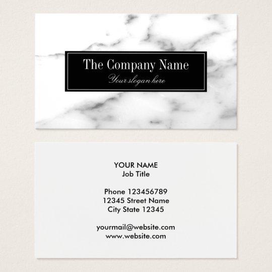 Weiße MarmorsteinVisitenkarteluxusschablone Visitenkarte