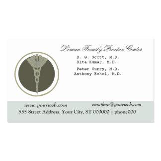 Weiße medizinische Klinik-Verabredung Visitenkarten