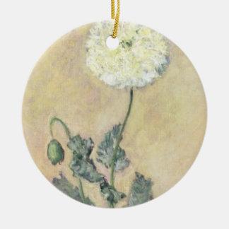 Weiße Mohnblume Claude Monets |, 1883 Keramik Ornament