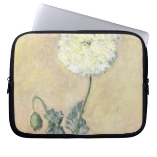 Weiße Mohnblume Claude Monets |, 1883 Laptop Sleeve