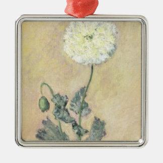 Weiße Mohnblume Claude Monets |, 1883 Silbernes Ornament