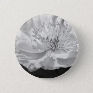 Weiße Mohnblume Runder Button 5,1 Cm