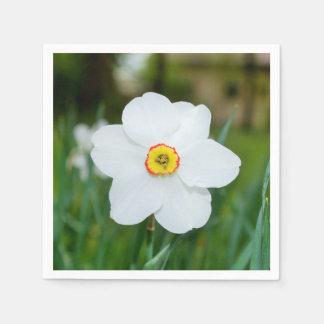 Weiße Narzissen-Blume Serviette