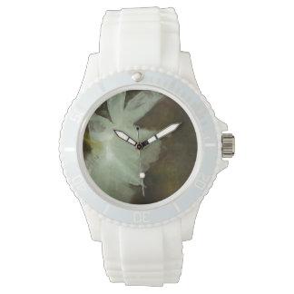Weiße Narzissen-Impressionist-Kunst-Malerei Uhr
