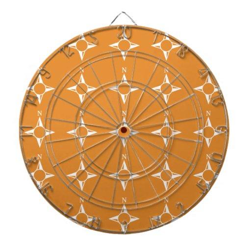 Weiße Orange des rechtweisend Nord Dart-scheibe