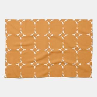 Weiße Orange des rechtweisend Nord Handtuch