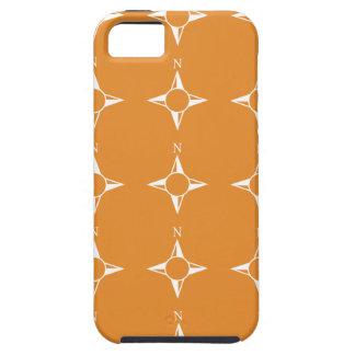 Weiße Orange des rechtweisend Nord Hülle Fürs iPhone 5