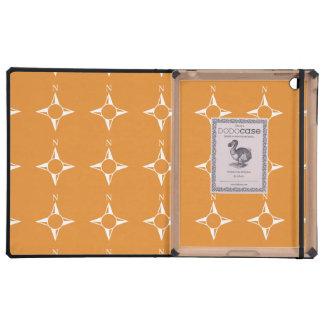 Weiße Orange des rechtweisend Nord iPad Schutzhüllen