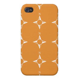 Weiße Orange des rechtweisend Nord iPhone 4/4S Hülle