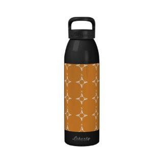 Weiße Orange des rechtweisend Nord Wiederverwendbare Wasserflasche