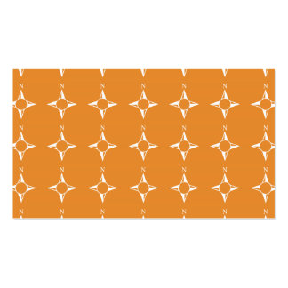 Weiße Orange des rechtweisend Nord Visitenkarten Vorlage