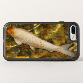 Weiße orange Koi Fische OtterBox Symmetry iPhone 8 Plus/7 Plus Hülle