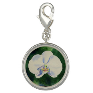 Weiße Orchidee Charms