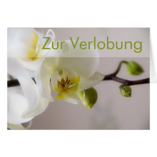 Weisse Orchidee • Glueckwunschkarte Verlobung Grußkarte