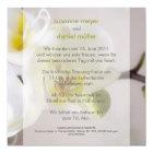 Weiße Orchidee • Hochzeitseinladung Karte