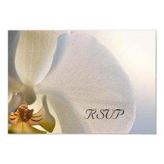 Weiße Orchideen-Eleganz-Hochzeit UAWG Antwort Karte