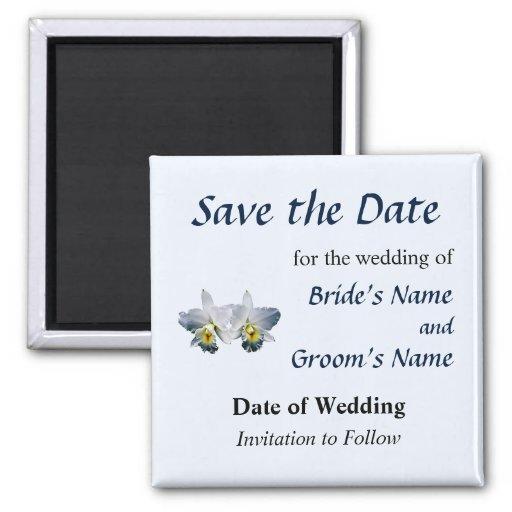 Weiße Orchideen-hawaiisches Hochzeits-Lied Save th Magnets