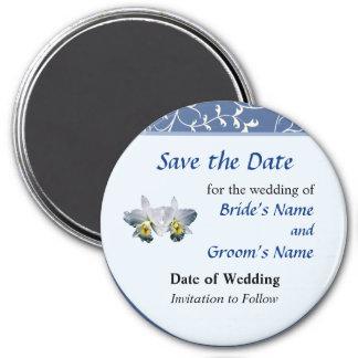 Weiße Orchideen-hawaiisches Hochzeits-Lied Save th Kühlschrankmagnete