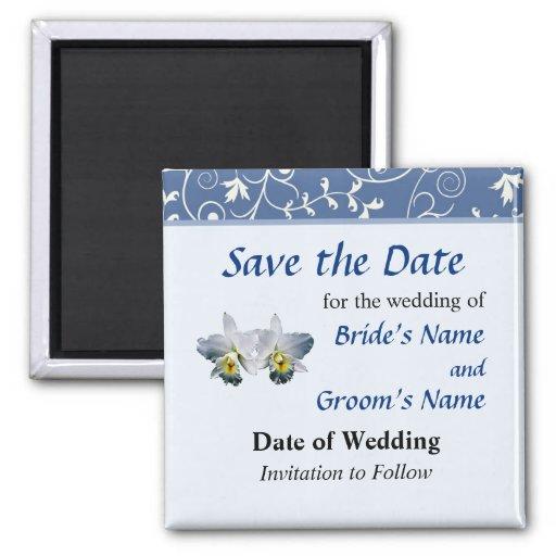 Weiße Orchideen-hawaiisches Hochzeits-Lied Save th Magnete