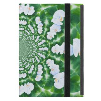Weiße Orchideen-Mandala iPad Mini Schutzhülle