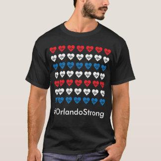 Weiße Orlandos starke Impuls-49 rote und blaue T-Shirt