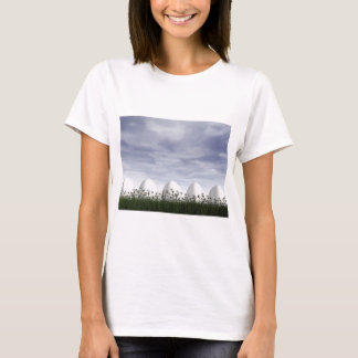 Weiße Ostereier in der Natur - 3D übertragen T-Shirt
