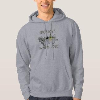 Weiße Osterlilien: Wahre Liebe ist reine Liebe Hoodie