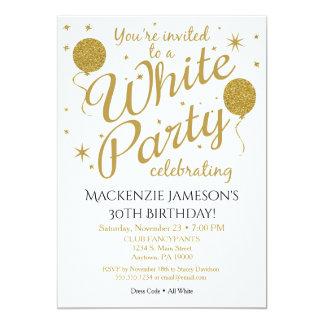 Weiße Party Einladung, die alles weiße Party Karte