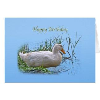 Weiße Pekin Enten-Geburtstags-Karte