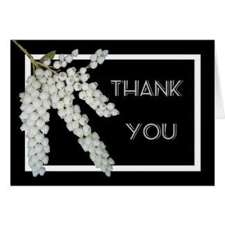 Weiße Perris Blume, danke Karte