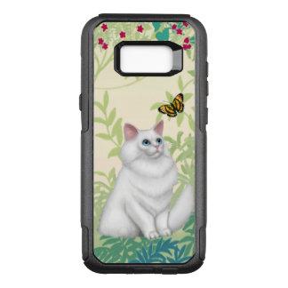 Weiße persische Katzen-und OtterBox Commuter Samsung Galaxy S8+ Hülle