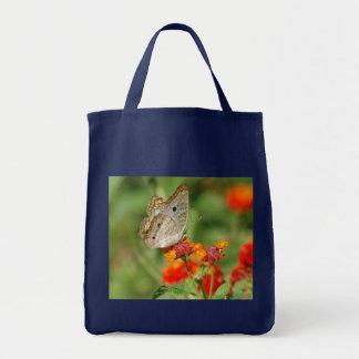 Weiße Pfau-Schmetterlings-Tasche Tragetasche