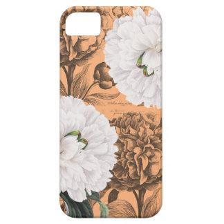 Weiße Pfingstrosen-orange romantisches iPhone 5 Hülle