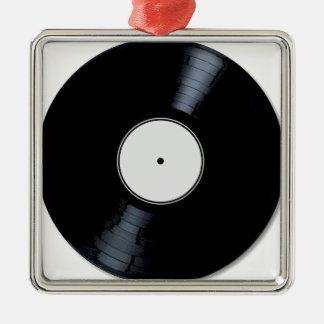 Weiße Plattenfirma Quadratisches Silberfarbenes Ornament