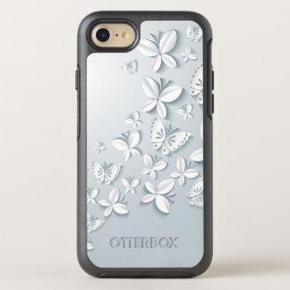 Weiße Popup- Schmetterlinge OtterBox Symmetry iPhone 8/7 Hülle