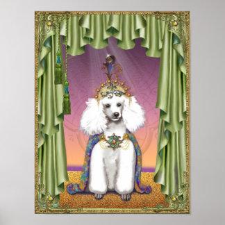 Weiße Pudel-Osten-Prinzessin Poster Print