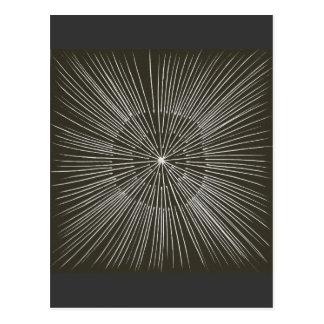 Weiße pulsierenanschläge auf schwarzen Postkarten